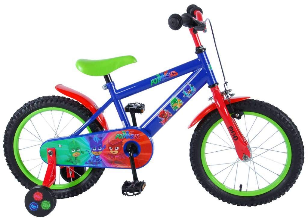 Bicicleta Ni/ño Pj M/ásk 16 Pulgadas con Ruedas Azul Rojo Verde