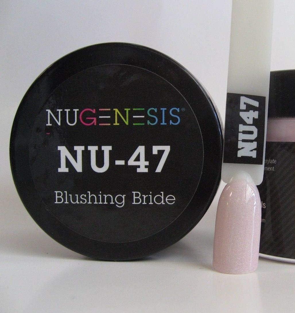 NuGenesis Nail Dipping Powder Color 1.5oz/43grams - (NU47 Blushing Bride)
