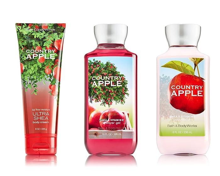 Bath & Body Works Country Apple Body Cream, Lotion, Shower Gel Set