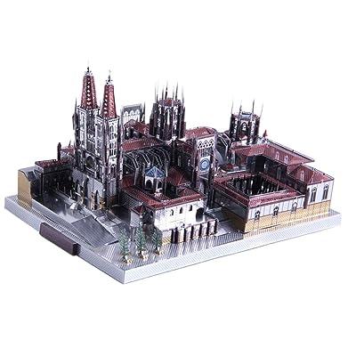 B Blesiya Juguete de Rompecabezas 3D Bloques de Construcción de Arquitectura Famoso Mudial en Miniatura Juego Creativo para Niños - Catedral de Burgos(229pcs,19x14x10cm): Juguetes y juegos