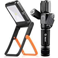 Neporal Solar+USB Powered Rechargeable Waterproof Flashlight
