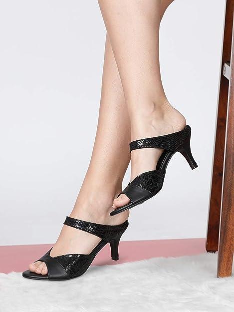 Regina Black Kitten Heels -UK/IND 5