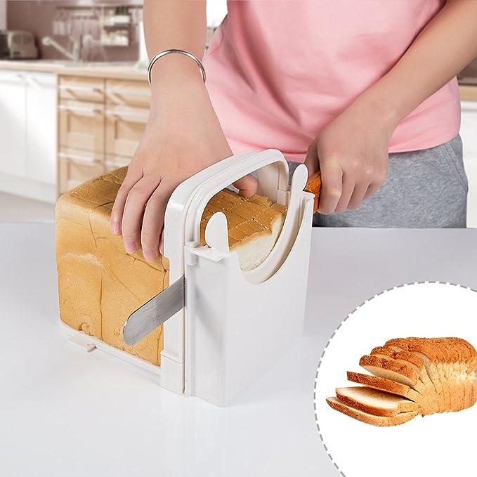 Compra Cocina Pan tostado cortador, grosor de corte ajustable ...