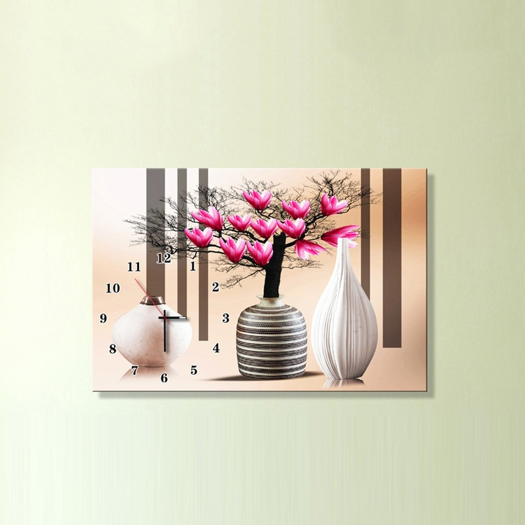 3Dアートサイレント防水絵画壁時計装飾的な背景クリエイティブアートマイクロフレームクリスタルクロックトリプルハンギング絵画の水平バージョン居間 (サイズ さいず : 50*70センチメートル) B07D8PL8F4 50*70センチメートル 50*70センチメートル