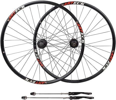 ZNND Bicicleta De Carretera Ruedas 27.5, Pared Doble Aleación De Aluminio Freno De Disco 29 Pulgadas Híbrido/Bicicleta De Montaña 32 Hoyos 8 9 10 Velocidad 100mm: Amazon.es: Deportes y aire libre