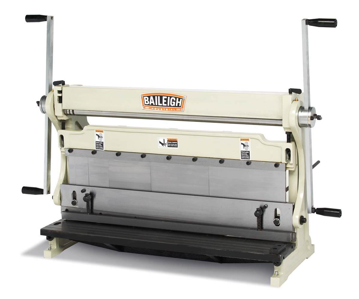 Baileigh SBR-3020 3-in-1 Combination Shear Brake Roll Machine, 30'' Bed Width, 20-Gauge Mild Steal Capacity