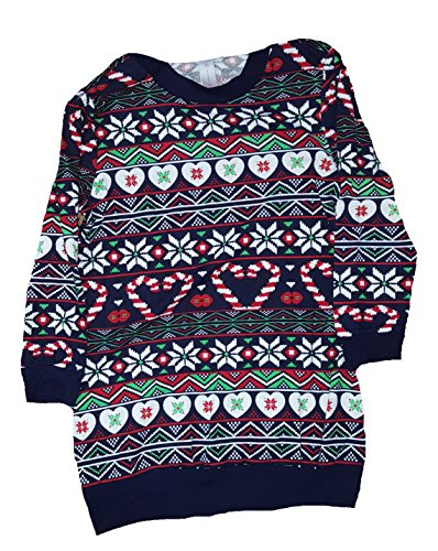 Christmas Candy Cane Hearts Fair Isle Sweatshirt