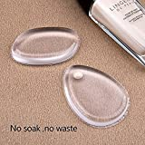 CTKcom Premium Silicone Makeup Sponges Makeup Puff(6 Pack)- Silicone Makeup Blender Perfect