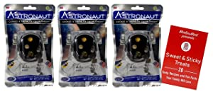 Astronaut Freeze-Dried Ice Cream Sandwich | Ready to Eat | Space Food | Cookies & Cream Flavor - Pack of 3 | Plus Recipe Booklet Bundle (1 Ounce)
