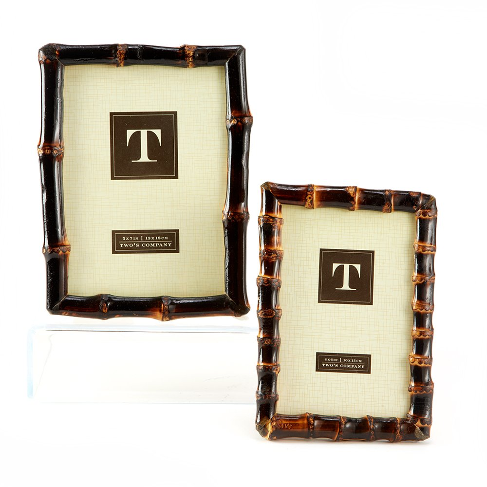 Amazon.com - Two\'s Company Bamboo Photo Frames, Set of 2 - Picture ...