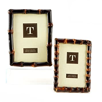 twos company bamboo photo frames