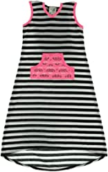 bc71909ad110 Lily Bleu Girls 4-6x Striped Hooded High-low Maxi Dress