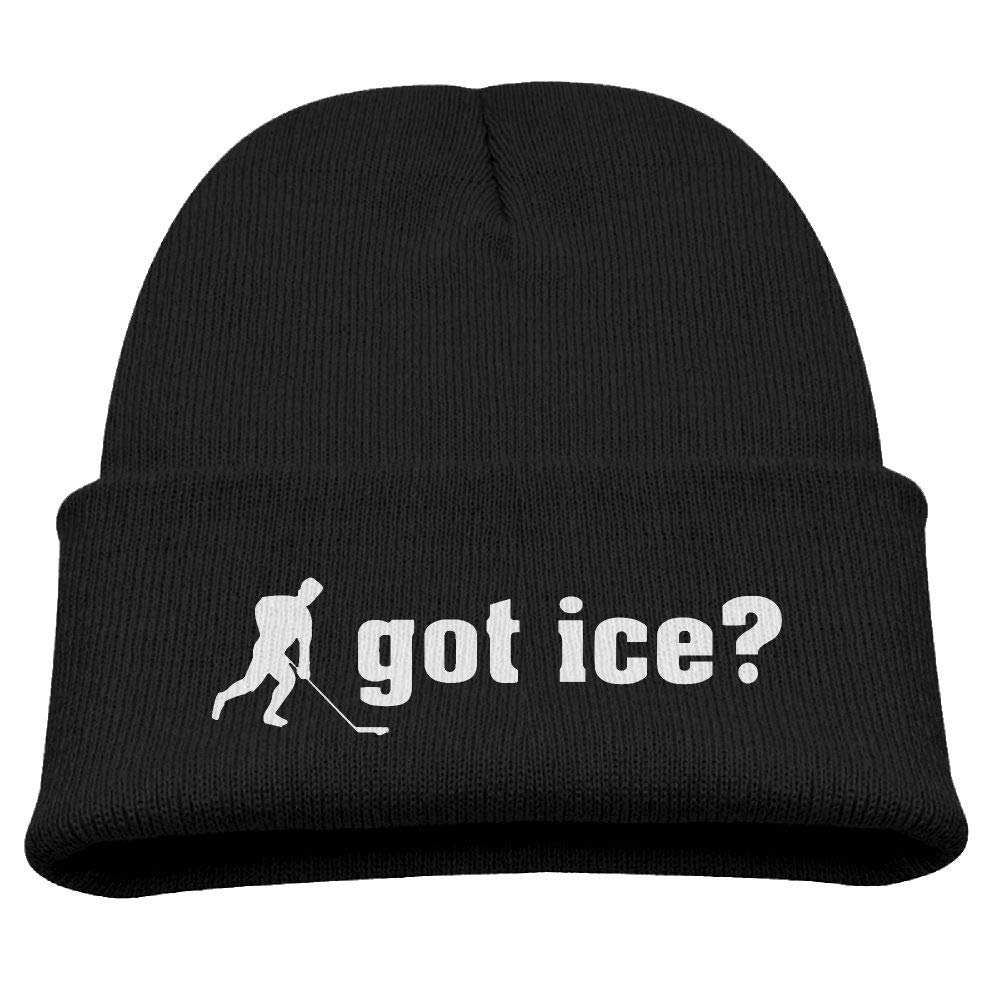 Eden Edies Hockey Got Ice Kids Winter Fleece Beanie Hat Warm Skull Wool Cap