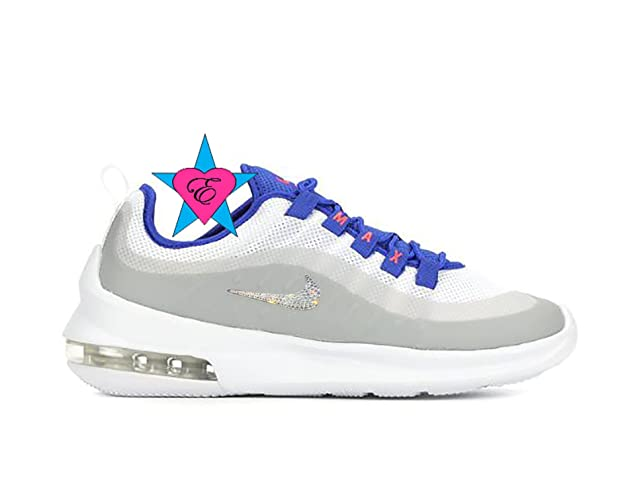 Amazon.com  Custom Clear Crystal Bling Gray Blue Nike Air Max Axis Running  Shoes  Handmade 2e8a7b4f1478