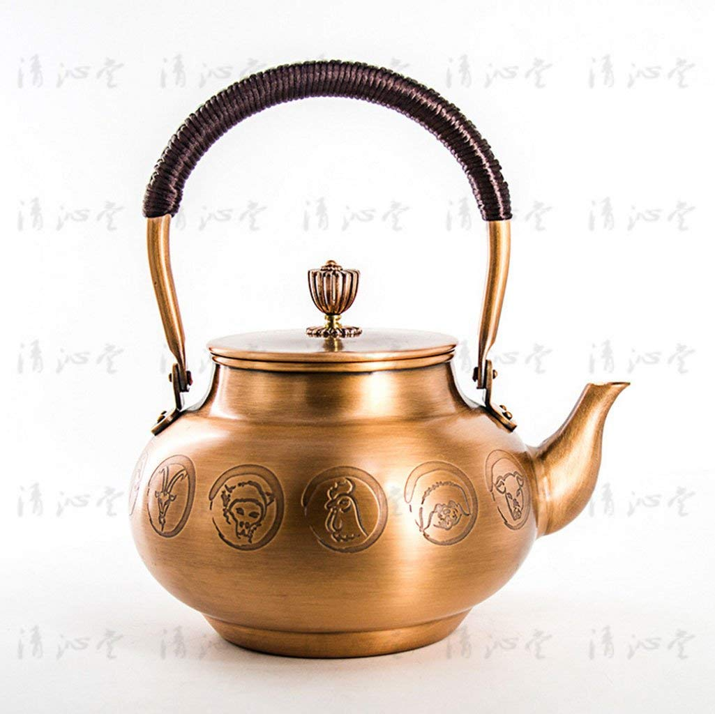 Exquisite Tea Cups Saucers Set Set Coffee Cup Japanese Cast Iron Tetsubin Copper Kettle, Embossed Copper Kettle, Kettle, Tea Set, Thickened 1300ML