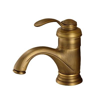 Rozin Classical Antique Brass Vessel Sink Faucet Single Hole Deck
