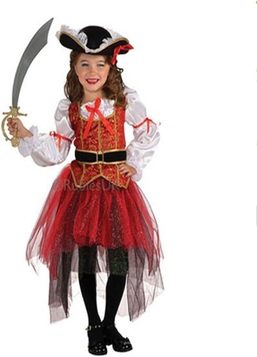Tiao Bug niña Infantil Disfraz Princesa de los Mares Piratas ...