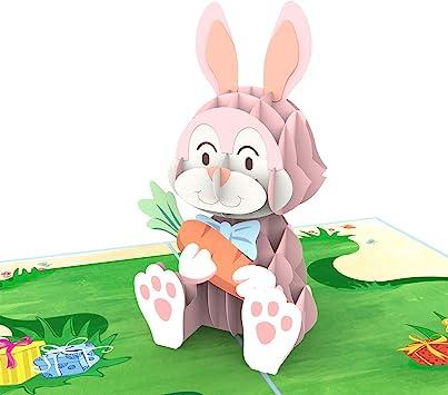 Amazon.com: Colorpop Tarjeta 3D de conejo desplegable ...