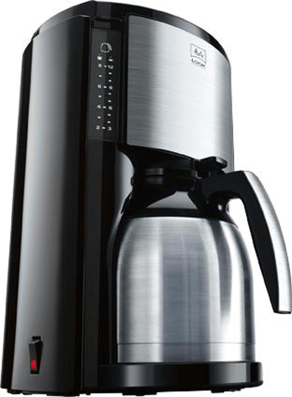 Melitta Look Therm Cafetera de Filtro con Jarra isotérmica, Selector de Aroma, Capacidad 10 Tazas (125 ml), Negro/Acero Inoxidable: Amazon.es: Hogar