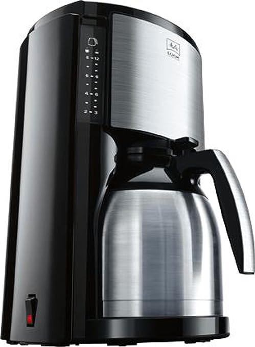 Melitta Look Therm Cafetera de filtro con jarra isotérmica, Selector de aroma, Capacidad 10 tazas (125 ml), Acero Inoxidable