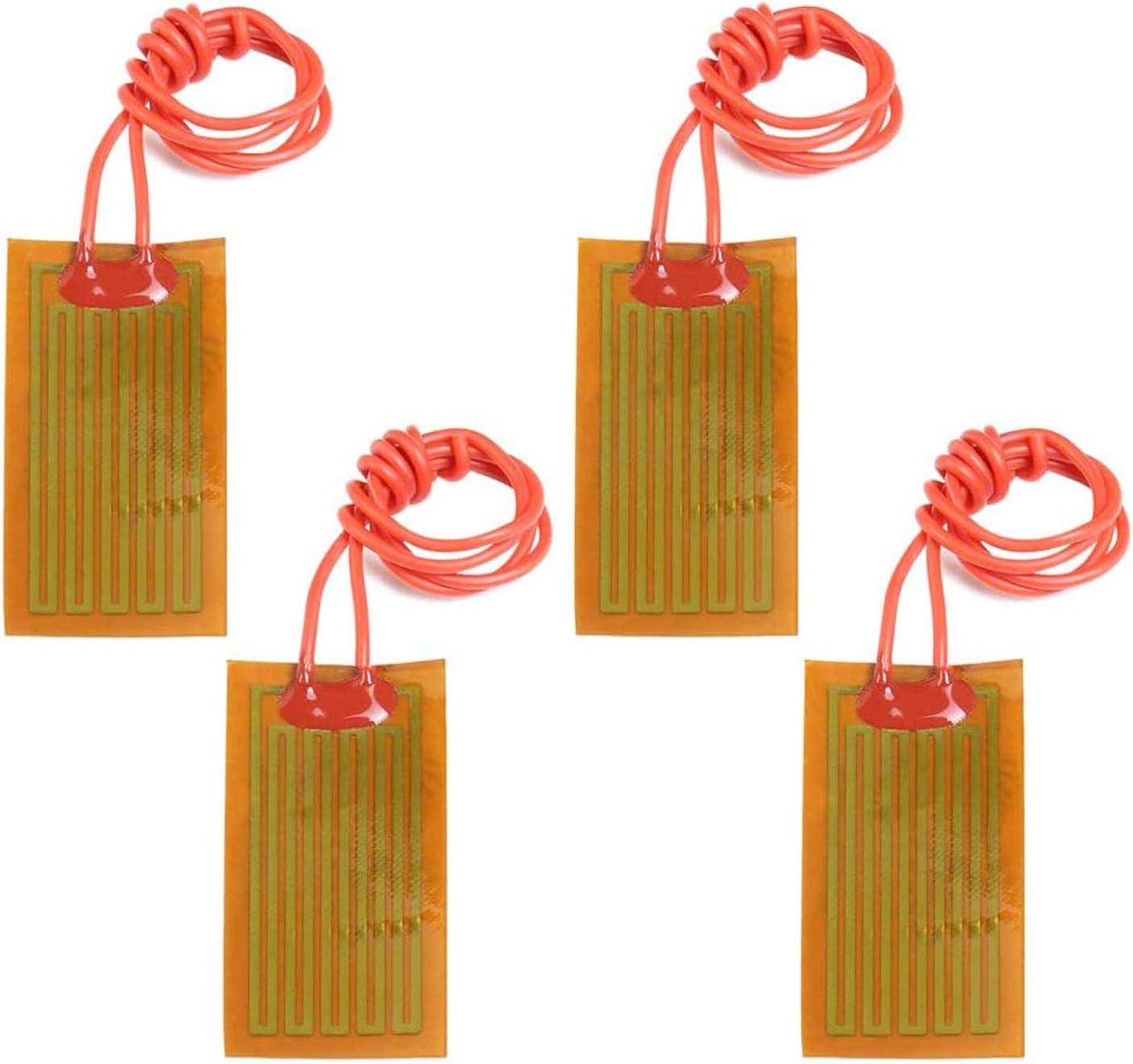 PEMENOL - Lámina calefactora de poliimida (4 unidades, 12 V, 7 W, 25 mm x 50 mm)