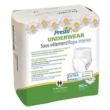 Maximum Absorbency Adult Pull Up Briefs Undergarments Underwear Diaper Large 72 Count