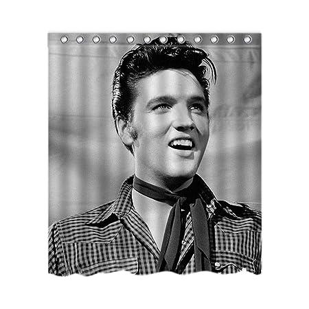 Elvis Presley Shower Curtain Stylish Waterproof Polyester Fabric Bathroom Deco 60quot