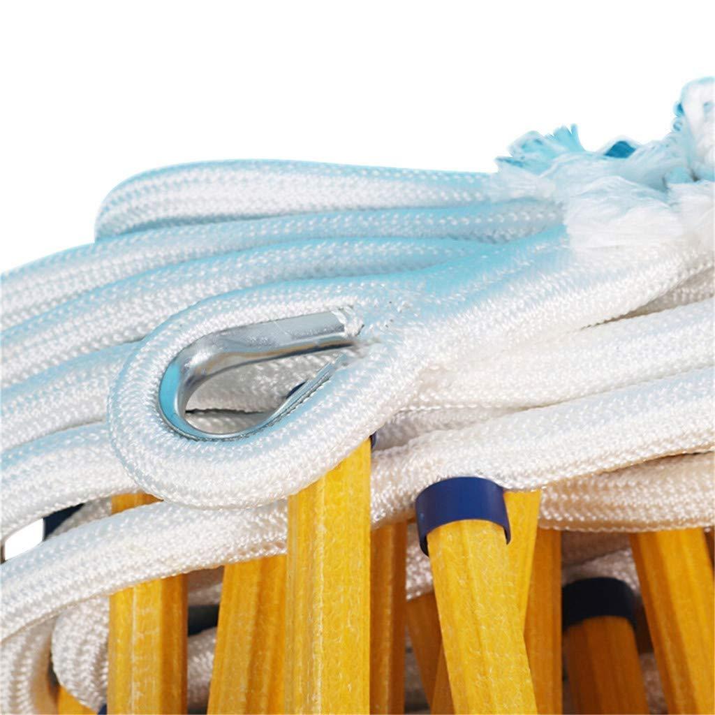 Strickleiter Rutschfeste Not-Strickleiter mit Haken 5M Rettungsleiter