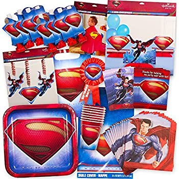 Amazoncom Man of Steel Superman Deluxe Party Supplies Pack