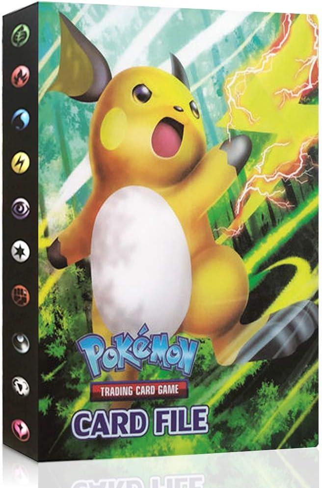 JIM - Pokemon Cartas Álbum, Álbum de Cartas Coleccionables Pokémon, Pokémon Titular de Tarjetas,30 páginas 240 Tarjetas (6#)