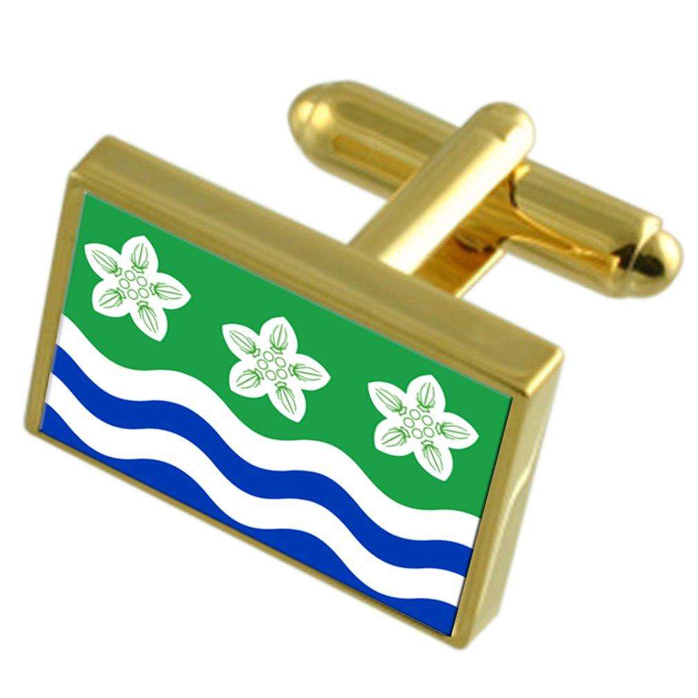 Cumberland County England Gold-tone Flag Cufflinks
