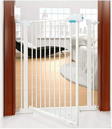 QIANDA Barrera Seguridad Niños Protector Escaleras Extra Alto 100cm, A Presión Metal Niños Barrera Protector Se Abre A Ambos Lados, Todo El Ancho 66-204cm (Color : White, Size : 168-174cm): Amazon.es: Hogar