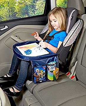 5e2492b3f113 Travel Tray Car Seat Play Tray - Includes 2 Attached Side Pouches ...