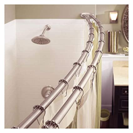 Image Unavailable Not Available For Color Adjustable Double Curved Shower Curtain Rod Crescent Bathtub Satin Nickel