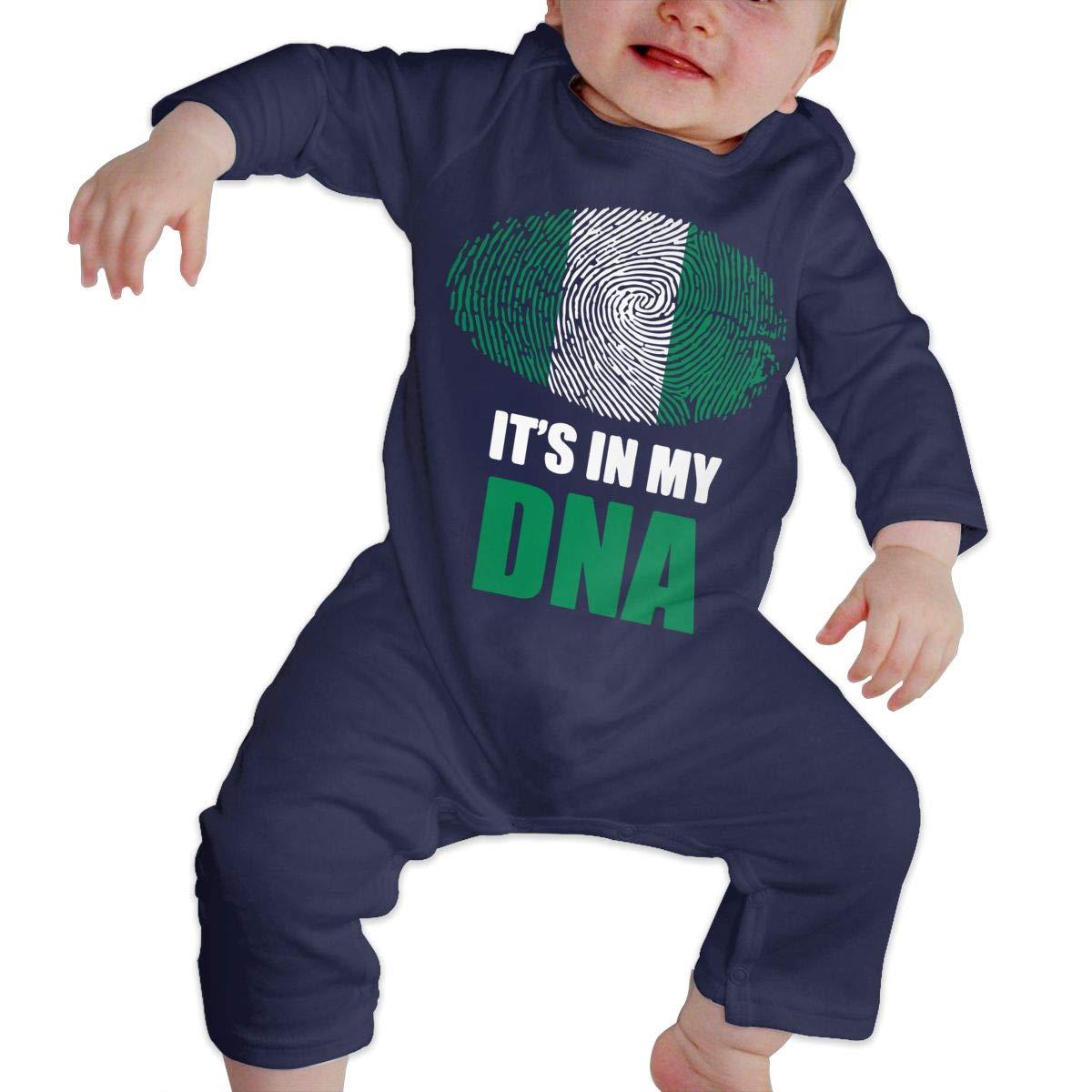 Nigerian Its in My DNA Baby Boy Girl Organic Cotton Romper Jumpsuit