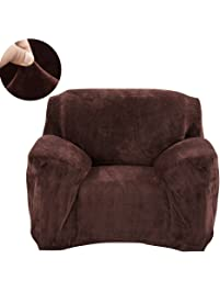 scorpiuse velvet armchair slipcover stretch spandex 1piece chair covers fitted 1 seater couch protector