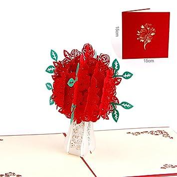 Guwheat Grusskarten 3d Pop Up Handgemachte Geschenkkarte Zum