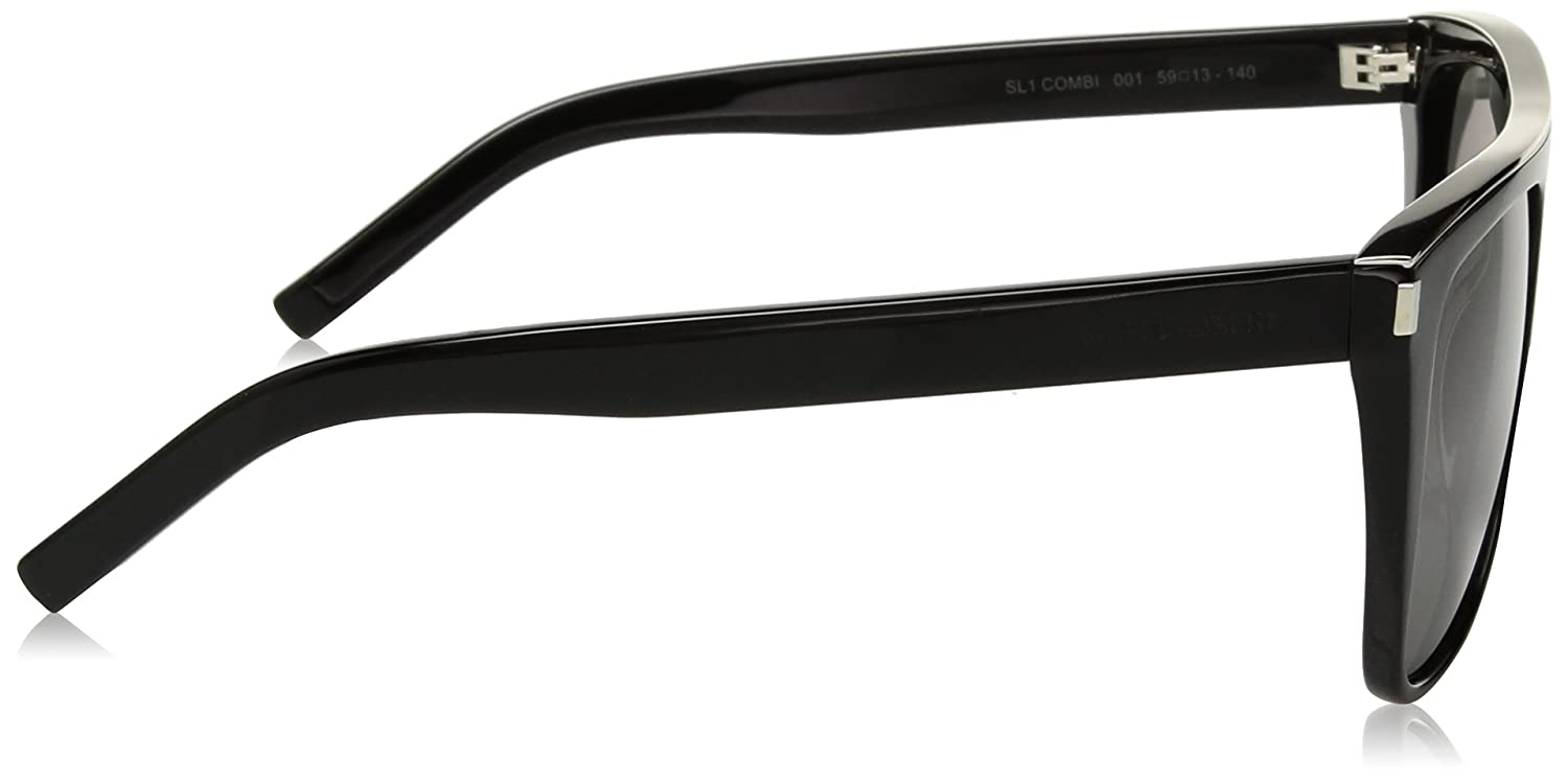 Amazon.com  Saint Laurent SL1 COMBI 001 Black SL1 COMBI Pilot Sunglasses  Lens Category 3 Si  Saint Laurent  Clothing 13ba39de7d0a