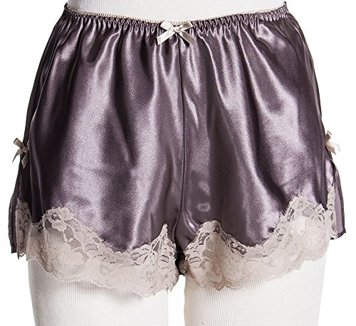 Vx Intimate Women's Silky French Knicker With Lace #8190/X (S-3X) (M, Mocha)