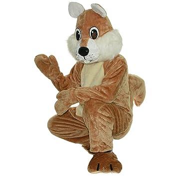 cartoon mascot Disfraz de ardilla marrón, personaje de dibujos ...