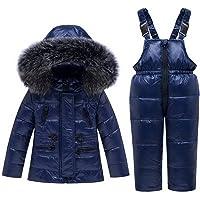 Skijakkeset Trajes de Esquí para Niñas Chaquetas Niño Abrigos con Capucha + Pantalones de Nieve Invierno Ropa Set 2…