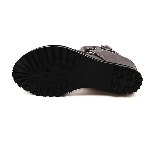 84e901ee4f Amazon.com: Sandals Ankle Shoes Punk Chain Rivets Gladiator Sandals Women  flip Flops Womens Shoes Heels and Wedges Sandal: Books