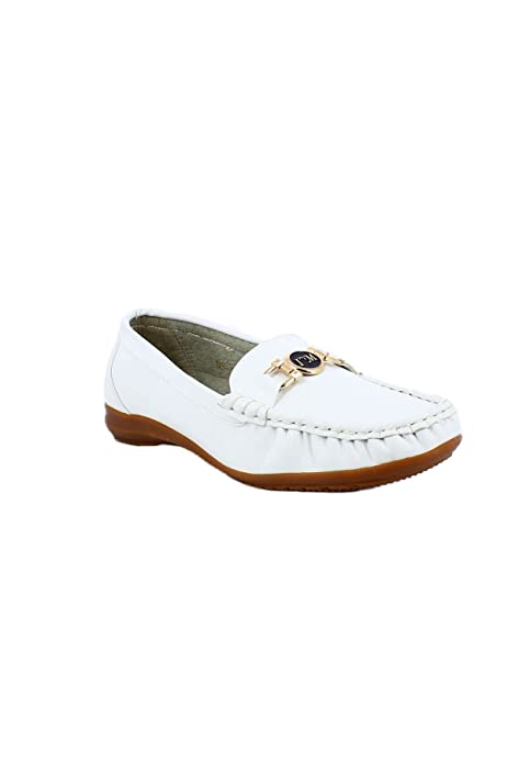 zonedachat - Mocasines Mujer , Blanco (blanco), 39: Amazon.es: Zapatos y complementos