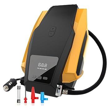 12V LCD Inflador de aire digital portátil para neumáticos de coche, bomba de con luces