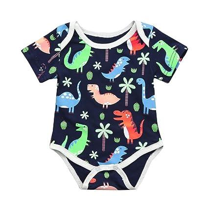 0 – 24 meses bebé niño bebé dibujos animados camisetas + vaquero pantalones cortos