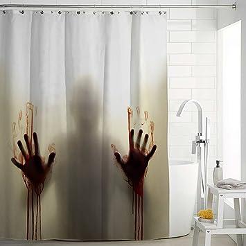 Halloween Shower Curtain Mildew Resistant Waterproof Antibacterial Polyster 71quot X