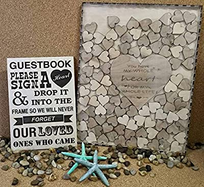 Wedding Guest Book Alternative Drop Box With 100 Hearts