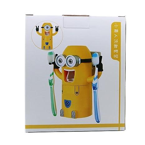 Energytick marca nueva para dos ojos secuaces diseño lavado Set Soporte para cepillos de dientes automático