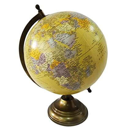 Buy indian decorative world map globe with iron stand 12 tall indian decorative world map globe with iron stand 12 tall standing 8 yellow ball gumiabroncs Gallery