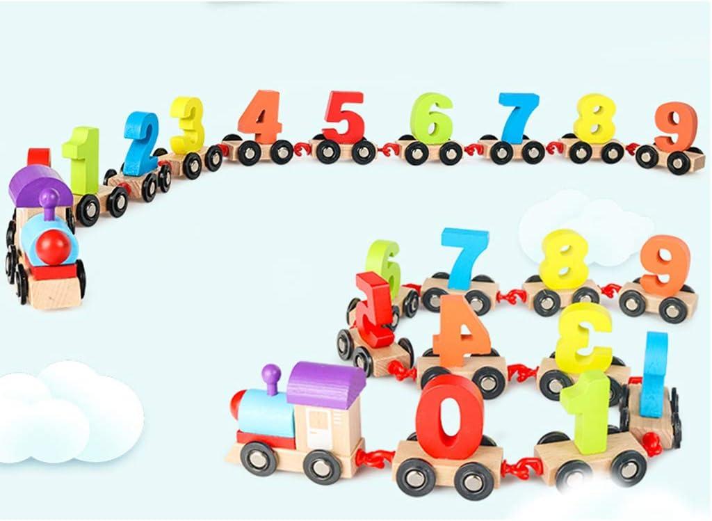 #N//A Juguete de Tren de Madera con N/úmeros Coloridos de Madera Juego Educativo Temprano para Ni/ños